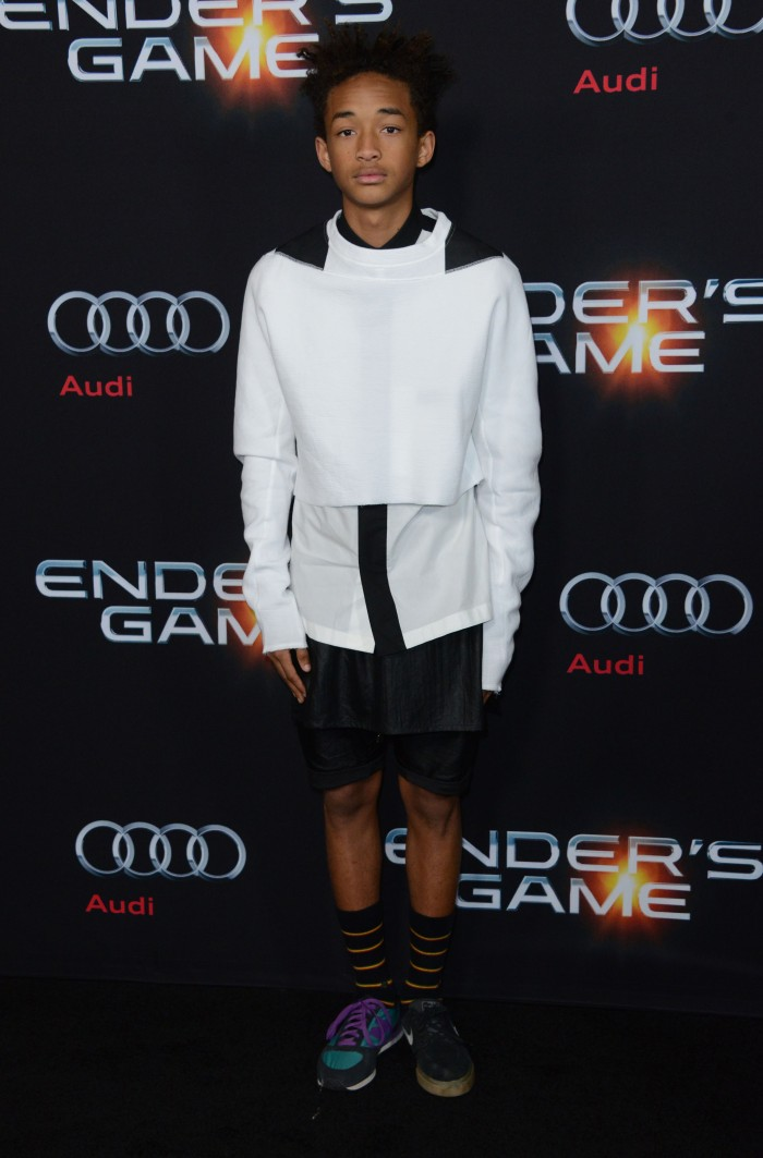 51246353 Celebrities attend the 'Ender's Game' Los Angeles premiere at TCL Chinese Theatre on October 28, 2013 in Hollywood, California.  Celebrities attend the 'Ender's Game' Los Angeles premiere at TCL Chinese Theatre on October 28, 2013 in Hollywood, California.  Pictured: Jaden Smith FameFlynet, Inc - Beverly Hills, CA, USA - +1 (818) 307-4813