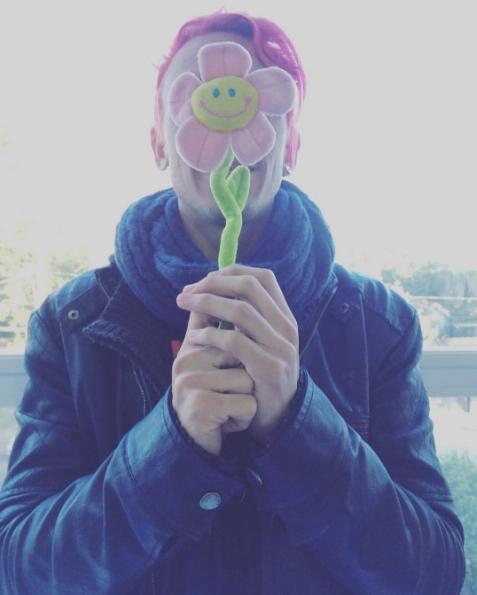 B.A. new me pink flower pessoa flor hair braian avilla quase hype blog hair color rosa cabelo cor vida amor